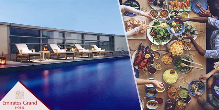 Eid Lunch & Gala Dinner at Emirates Grand Hotel for only AED89