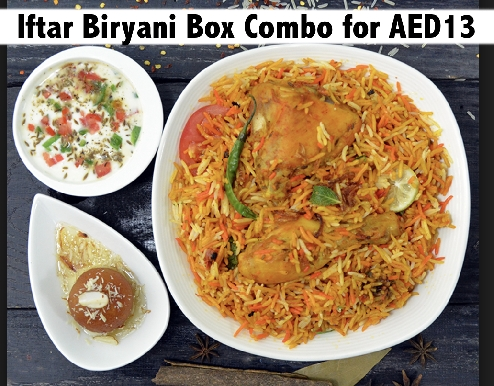 Iftar Biryani Combo Box for only AED13 - Candle Light Restaurant