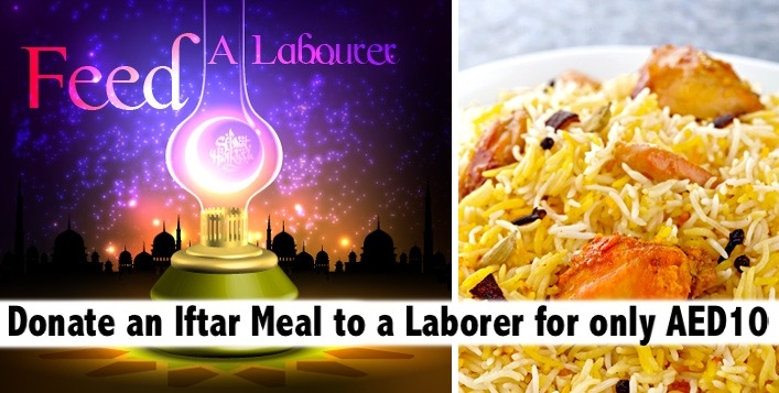Donate Iftar Charity Box Meal for Laborers this Ramadan for only AED10