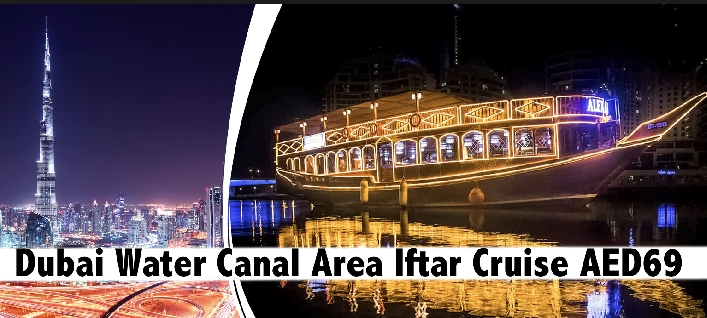 Dubai Canal Area 5 Star Iftar Buffet Cruise for only AED69