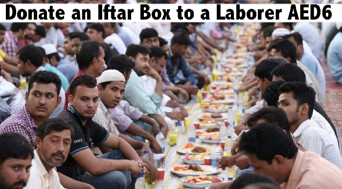 Donate Iftar Charity Box Meal for Laborers this Ramadan from only AED6