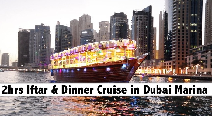 2hrs Iftar & Dinner 5 Star Le Fleur's Dubai Marina Cruise for only AED79