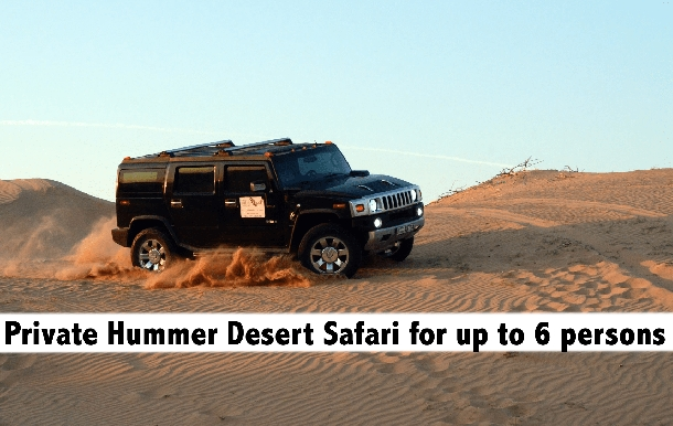 Hummer Premium Desert Safari - Full Car (up to 6pax) for AED899