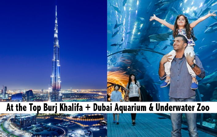 Burj Khalifa At the Top, Dubai Aquarium & Underwater Zoo Tickets
