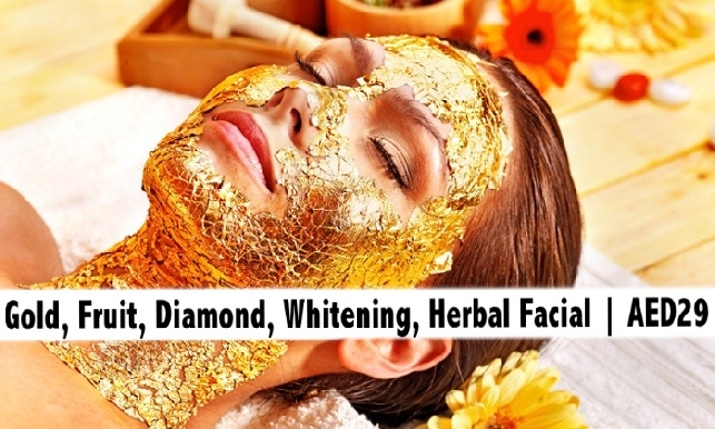 Gold, Diamond, Herbal, Fruit, Whitening Facials for only AED29