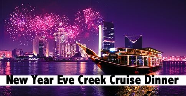 New Years Eve Dhow Cruise Party | 5 Star Menu, Cake & Fireworks