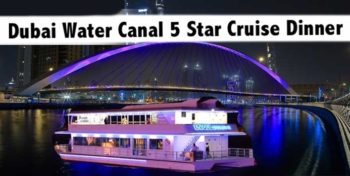 Dubai Water Canal 2.5hrs 5 Star Buffet on Unique Catamran Glass Boat