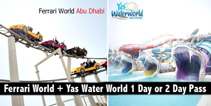 Ferrari World + Yas Water World 1 Day or 2 Day Pass from AED319