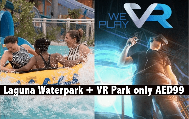 Laguna Waterpark + VR Park Dubai Mall Combo for only AED99
