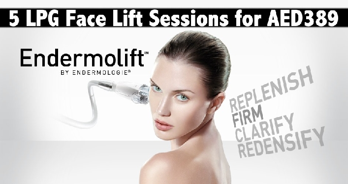 Face Lift, Anti Aging & Face Shaping -  5 sessions Endermolift LPG AED389