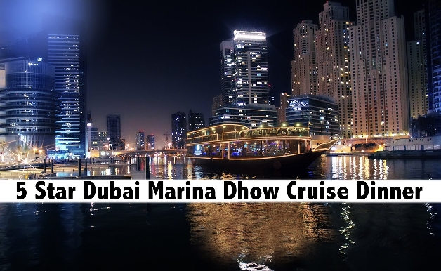 5 Star Le Fleur's Marina Cruise Dinner (Sunset Cruise for only AED79)