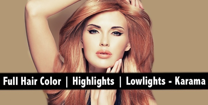Full Hair Color or Highlights or Lowlights at Silver Star Ladies Salon AED99