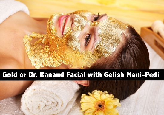 Dr. Renaud Facial or Gold Facial with Manicure & Pedicure from AED69