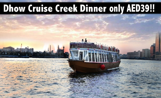 Dhow Cruise International Dinner Buffet & Entertainment for only AED39