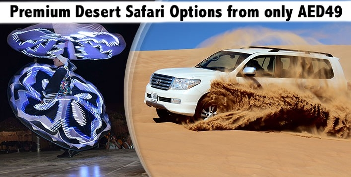 Desert Safari from AED49 - Common Point Pick Up (AED59) or Home Pick Up (AED99)