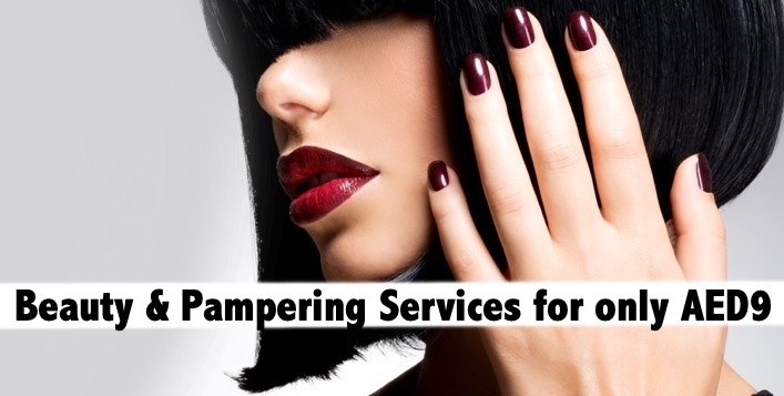 Waxing, Mani, Pedi, Blowdry, Foot Spa & more - 1 Service for AED9
