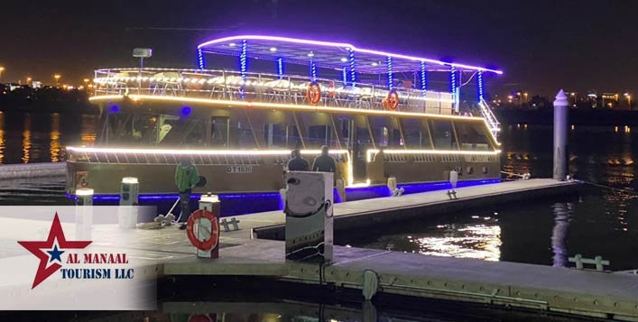 Dubai Canal Dhow Cruise with Buffet Dinner for only AED49